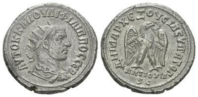 Tetradracma de Filipo I (el árabe) ceca de Antioquía. 2410453.m