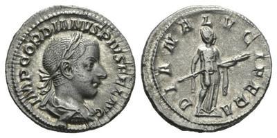 Denario de Gordiano III. DIANA LVCIFERA 2569984.m