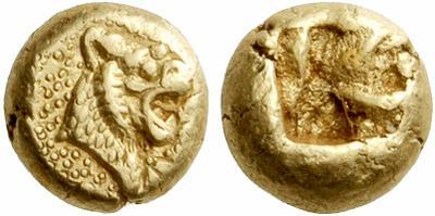 Hemihekte acuñado en tiempos de los Reyes de Lidia Aliates y Creso (610-546 a.C.)  997182.m