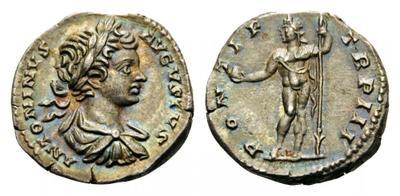 Denario de Limes de Caracalla. PONTIF TR P III. Sol 2344207.m