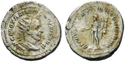 Antoniniano de Trajano Decio. GENIVS EXERC ILLYRICIANI. Roma. 2464474.m