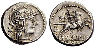 denier République Q. Marcius Pilipus 758410.m