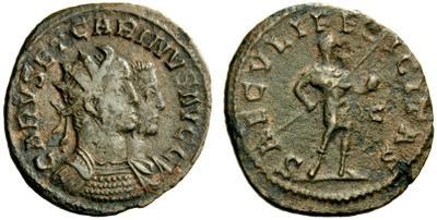 Carus - Carinus - Numerien et Sol sur une même monnaie 1589178.m