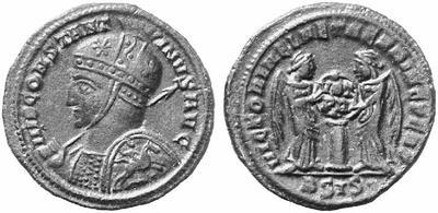 AE3 de Constantino I. VOT XX / MVLT / XXX. Tesalónica 103910.m