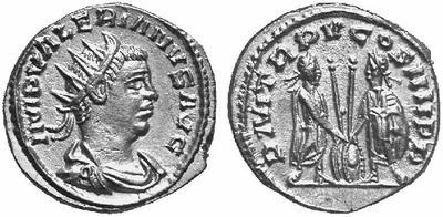 Antoniniano de Valeriano I. P M TR P V COS IIII P P. Antioquía 132494.m