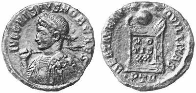 AE3 de Crispo. BEATA TRANQVILLITAS. Trier 132614.m