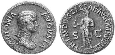 Dupondio de Antonia.  TI CLAVDIVS CAESAR AVG P M TR P IMP PP / SC. Roma 152514.m