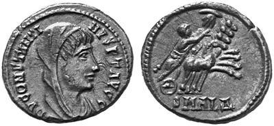 AE4 póstumo de Constantino I, con cuadriga en reverso. 69630.m