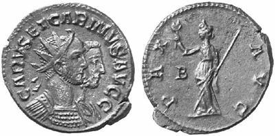 Carus - Carinus - Numerien et Sol sur une même monnaie 74417.m