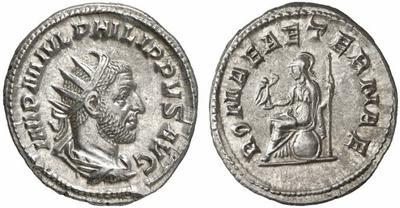 Antoniniano de Filipo I. ROMAE AETERNAE. Roma 420217.m