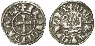 Dinero de los almogávares (1311-1388) o los duques florentinos (1388-1394) del ducado de Atenas  1670322.m