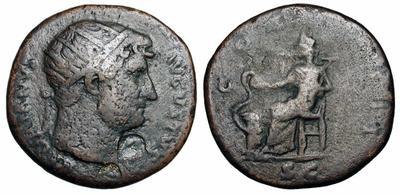 Dupondio de Adriano. COS III. Roma. 1334749.m