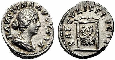 Denario de Faustina II. SAECVLI FELICIT. Reproducion? 1161379.m