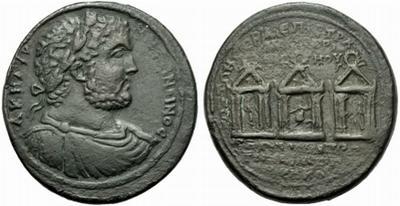 Rarísimo medallon de Caracalla. Galera. Iona. Smyrna 1467691.m