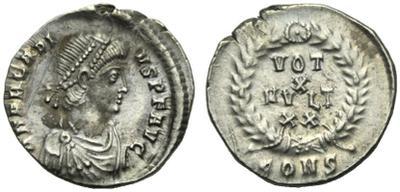 Silicua de Arcadio. VOT X MVLT XX. Constantinopla 1467899.m