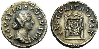 Denario de Faustina II. SAECVLI FELICIT. Reproducion? 1592831.m
