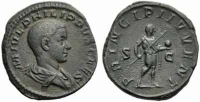 Sestercio de Filipo II. PRINCIPI IVVENT. Roma 1592970.m