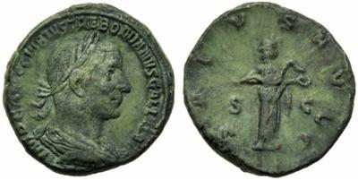Sestercio de Treboniano Galo. SALVS AVGG. Roma. 1592991.m