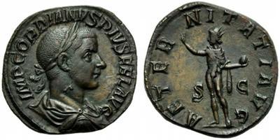 Sestercio de Gordiano III. AETERNITATI AVG - S C. Ceca Roma. 1842094.m