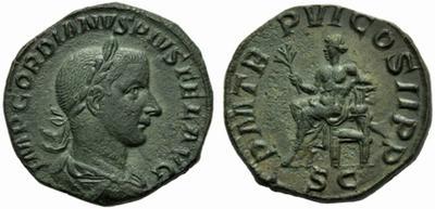 PM TR P VI COS II PP de Gordiano III 1842095.m