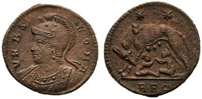 AE3 conmemorativa de Roma. VRBS ROMA. Roma 2350826.m
