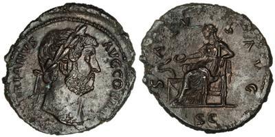 As de Adriano. SALVS AVG / SC. Roma 1484759.m