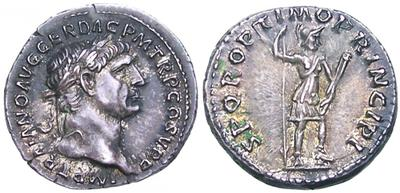 Denario de Trajano. S P Q R OPTIMO PRINCIPI. Virtus 1099539.m