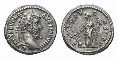 Denario de Septimio Severo. P M TR P V COS II P P - Fortuna. Laodicea ad Mare 1781015.m