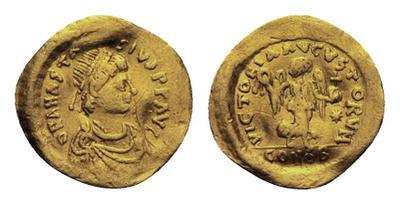 Tremissis imitativo a nombre de Anastasio I 2101342.m