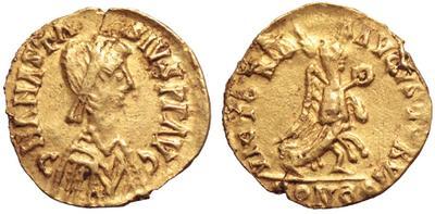 Tremissis imitativo a nombre de Anastasio I 2139803.m