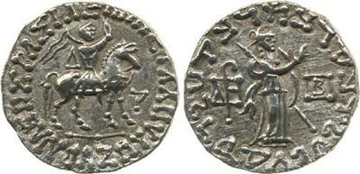 Tetradracma de Azes II. 35 a.C.-12 d.C. 248667.m
