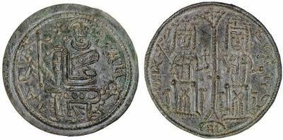 Follis de Bela III (1172-1196) de Hungría 567258.m