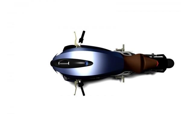 Agility Saietta : Encore une moto électrique du futur non conventionnelle ! Par Florian LOPEZ  Agility-Saietta-bleue-vue-haut-600x423