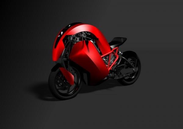 Agility Saietta : Encore une moto électrique du futur non conventionnelle ! Par Florian LOPEZ  Agility-Saietta-rouge-600x423