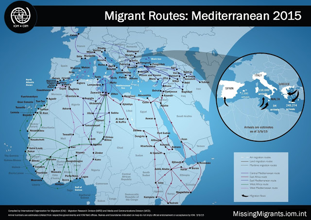 BOTH SIDES OF THE REFUGEE CRISIS IN EUROPE Migrant_-Routes_-Mediterranean-2015_3-September