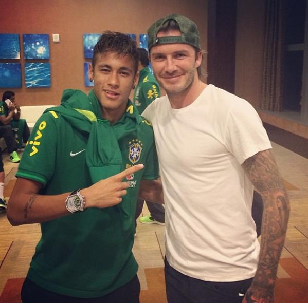 ¿Cuánto mide David Beckham? - Altura - Real height Neymar