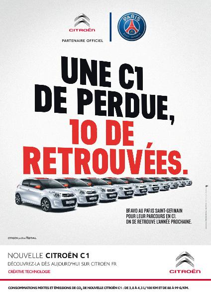 [ACTUALITE] Citroën/DS et le football - Page 6 Pub-citroen-c1-psg