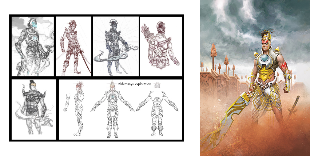 3D Character Pipeline of Legend of Abhimanyu Mobile Game 1