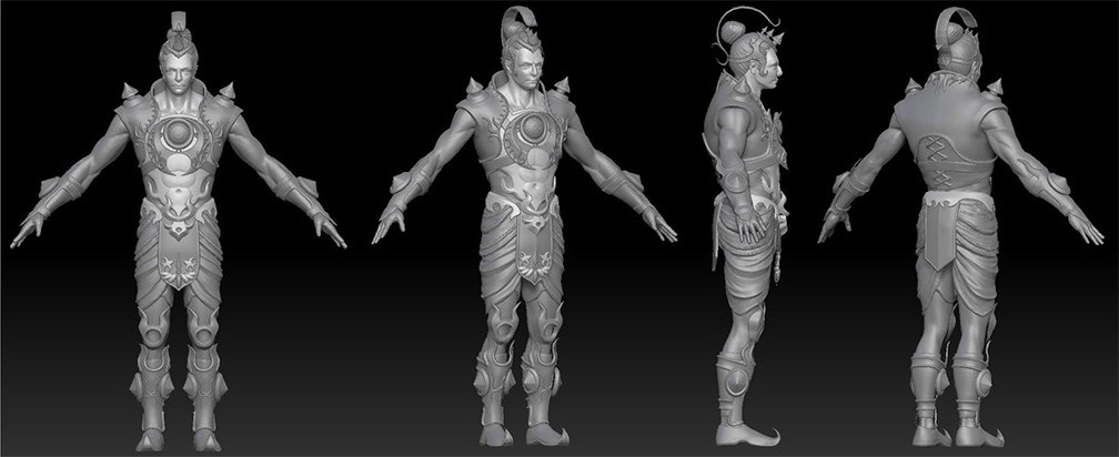 3D Character Pipeline of Legend of Abhimanyu Mobile Game 2