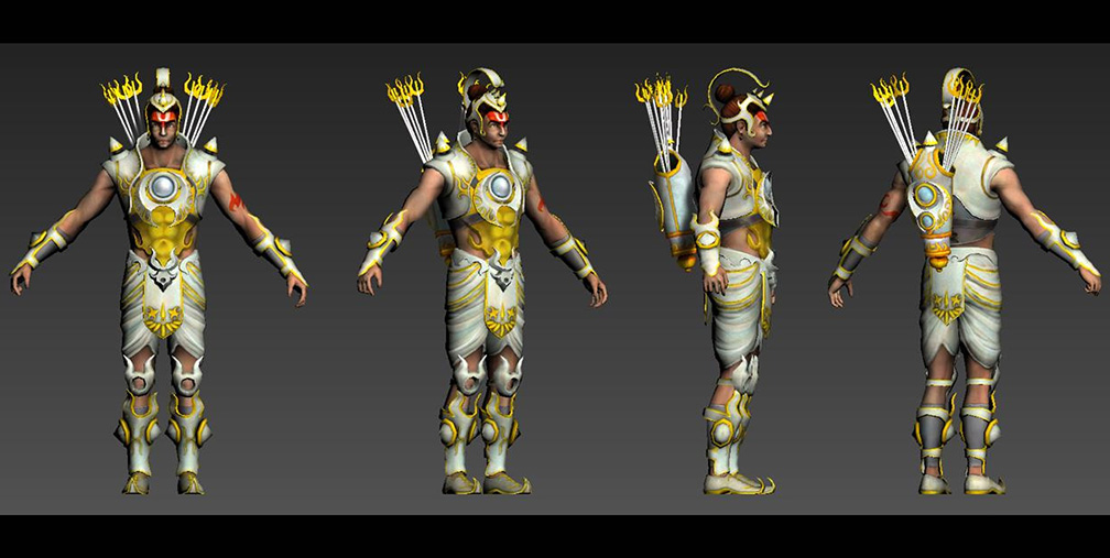 3D Character Pipeline of Legend of Abhimanyu Mobile Game 4