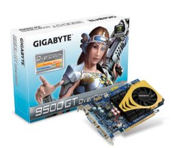 GIGABYTE VGA NVD N9500GT PCI-E16x 1GB GDDR2 Dual DVI, GV-N95TOC-1GH GV-N95TOC-1GH