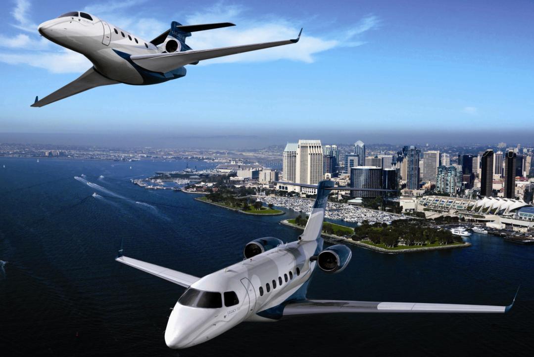 [Brasil] Embraer seleciona aeroporto da Flórida para fazer aviões Legacy-450-e-500-imagem-Embraer