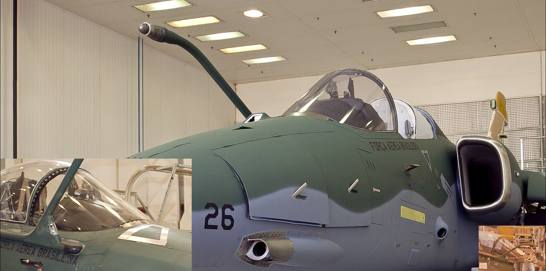 AMX - Conozca los detalles de la modernización de la aeronave A-1M de la FAB Navflir1