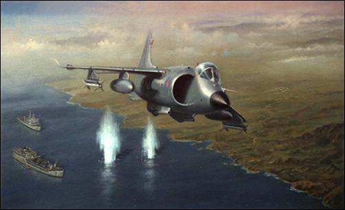 AVION DE COMBATE HARRIER HISTORIA Y VARIANTES Sea-Harrier-Malvinas