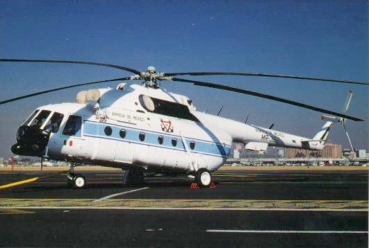 Aeronaves  del pasado de la SEMAR. Mi-08