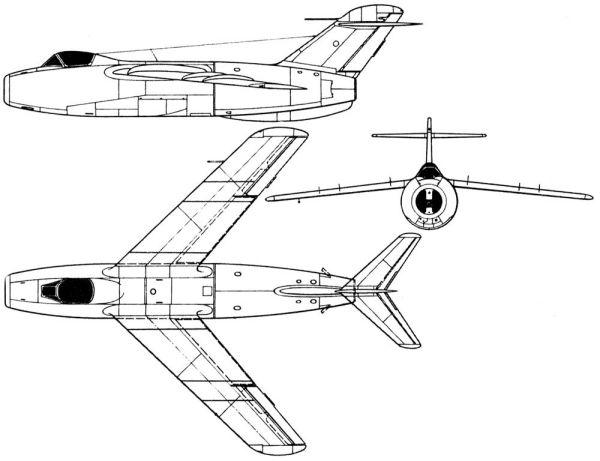 Lavochkin - avioni konstruktora Lavočkina La176_schem_01