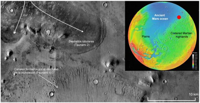Tsunamis gigantes arrasaron las costas de Marte 2_image671_405