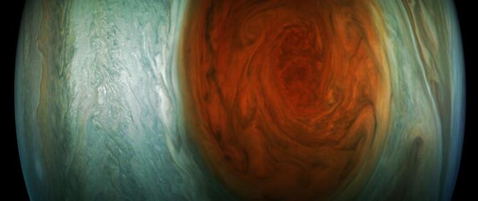 Imágenes de la Gran Mancha Roja de Júpiter tomadas por la NASA Pia21773_image671_405