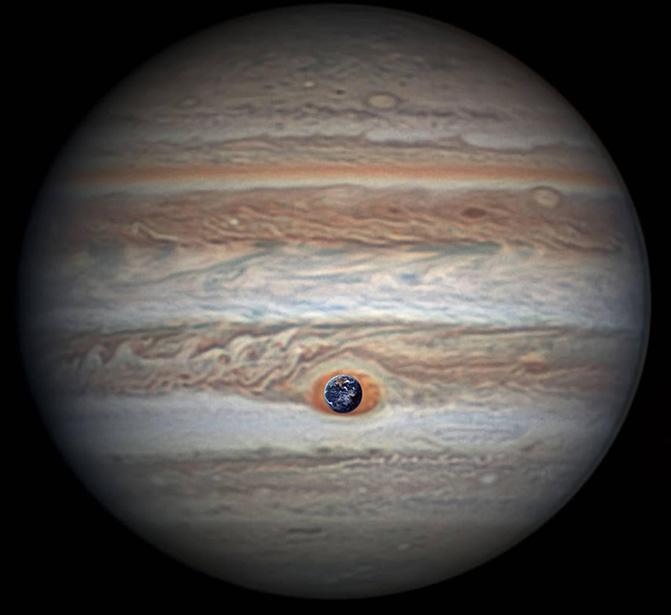 Imágenes de la Gran Mancha Roja de Júpiter tomadas por la NASA Pia21774