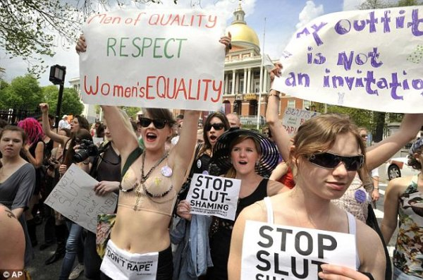 Outrage: Comments from a Canadian police officer that women should 'avoid dressing like sluts' to protect themselves from rape sparked SlutWalk protests worldwide